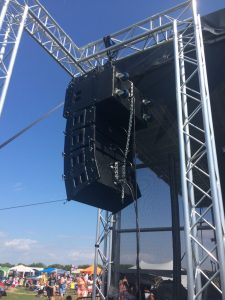Large line array speaker